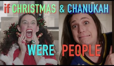 This is What it Might Be Like If Christmas & Chanukah Were People