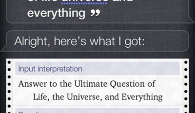 Even Siri knows this one...