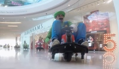The Hottest New Mario Kart Course is Westfield Mall