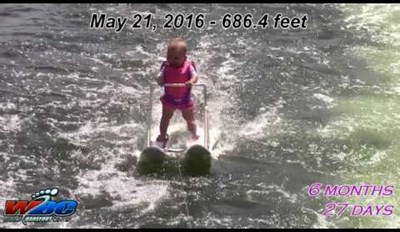 The World's Youngest Water Skier Is Only 6-Months-Old