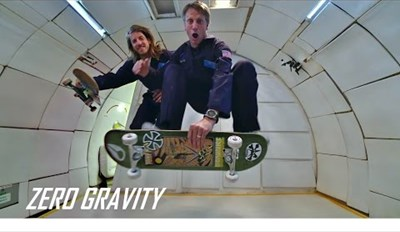 Watch Tony Hawk Try to Shred in Zero Gravity