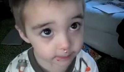 Kid Denies Eating Sprinkles Despite Being Covered in Sprinkles