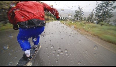 Longboarding Downhill During the Pouring Rain Never Looked So Awesome