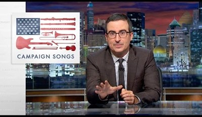 John Oliver Got Famous Singers Together to Sing Against Politicians Stealing Music For Campaigns