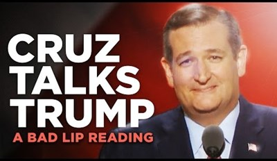 Ted Cruz's Poorly Received RNC Speech Gets a Bad Lip Readingß