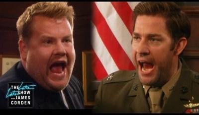 John Krasinski & James Corden Make a Terrible Acting Duo