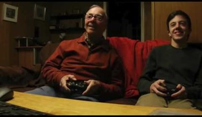 84-Year-Old Grandpa Plays Video Games And His Reactions Are Hilarious