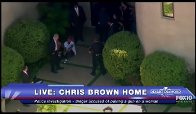 Live Stream of the Day: Chris Brown & LAPD Stand Off At His Home, Search for Gun
