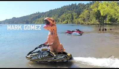 Say Goodbye to Summer While You Watch This Raptor Speed Away on a Jet Ski