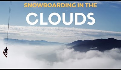 It's a Little Early for Snowboarding So This Pro Took His Snowboard for a Spin on the Clouds