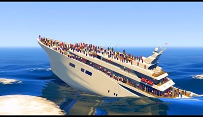 Watch This Dude Playing GTA V Manage to Sink a Yacht With 100 Bodies, Cause Reasons