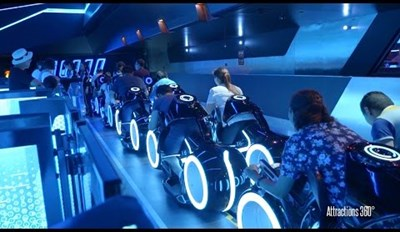 The TRON Rollercoaster Ride at Shanghai Disney Is Going to Make You Feel Like You're In a Movie