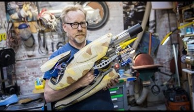 17 Years Later Adam Savage Is Here to Show off His Epic Replica of the Fifth Element's Zorg ZF-1