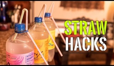 Life Hack of the Day: This Video Proves That Straws Are More Useful Than Cliff, the Guy Who Lives On My Couch