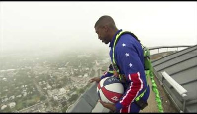 Shot of the Day: See This Harlem Globetrotter Nail a 538-Foot High Trick Shot