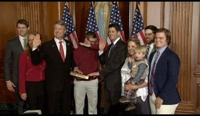 Attempted Dab of the Day: Paul Ryan Shuts Down Lawmaker's Son's Dab During Swearing in Ceremony