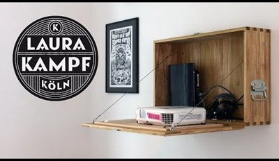 Don't Have a Good Place for Your Projector? Just Make This Handy Wooden Cabinet