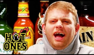 Singer Mac DeMarco Tries to Maintain Chill While Eating Hot Wings, Ends Up Evolving Into Enraged Canadian