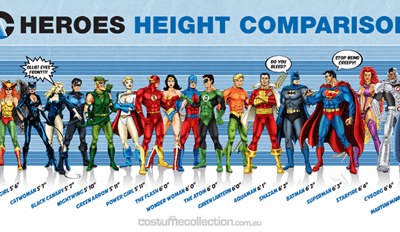DC Heroes Height Comparison