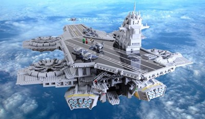 A LEGO Fan Built a 4½ Foot Long SHIELD Helicarrier Using Only Images From the Avengers Movie for Reference