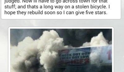 Someone Gave This Burned Down Liquor Store a Fitting Eulogy Via Yelp