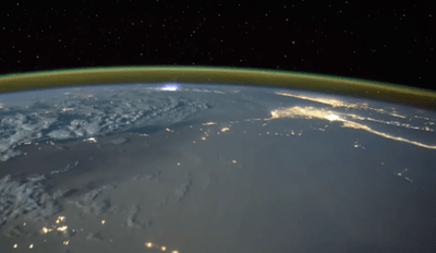 The International Space Station Time Lapse Video Captures Lightening Strikes From Space