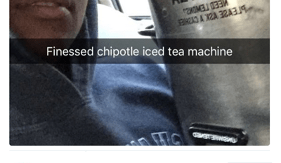 Chipotle Undercooked His Chicken, so He Took Off With Their Tea