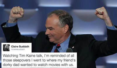 Twitter Thinks Vice President Nominee, Tim Kaine, Might Be Everyone's Adorkable Dad