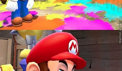 Mario Is Not Entertained by All Your Funny Business, Inklings...
