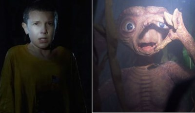 "Check out All of The ""Stranger Things"" Tributes in One Eerie Side-By-Side Comparison"