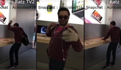 Watch This Pissed Off Customer Go Insane At Apple Store, Smash ALL the Devices, and Somehow Walk Away From It
