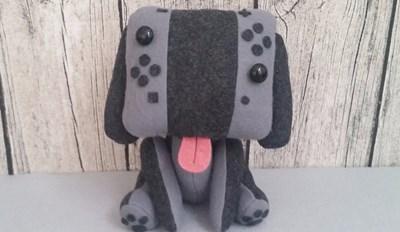 Fan Creates Plush Nintendo Switch Dog