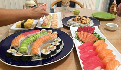 Said The Little Cat To The Shepherd Boy: Do Sushi What I See?