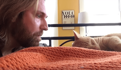 Guy Gets Revenge on His Cat for Waking Him up in the Middle of the Night