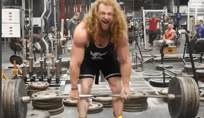 Human of the Day: Living God Deadlifts Almost 500 Pounds While Wearing Roller Blades
