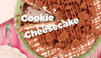 Watch Melted Butter and Shortbread Transform Into a Delicious Cookie Cheesecake