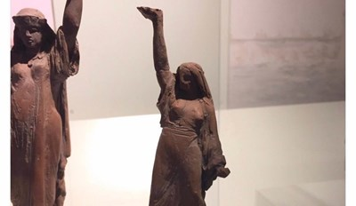 Funny meme using some ancient sculptures to describe how you look and feel when you land the last cup while playing the drinking game beer pong.