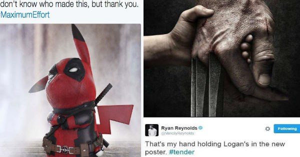 twitter deadpool x men ryan reynolds funny