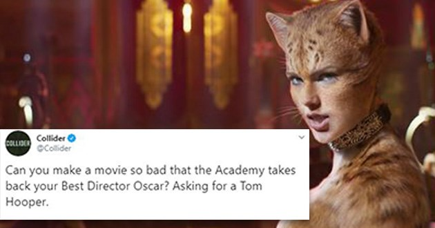 cats movie reviews funny tweets rotten tomatoes hilarious twitter