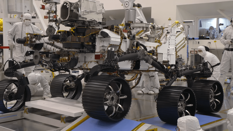 the mars 2020 rover from nasa passed it's first driving test today