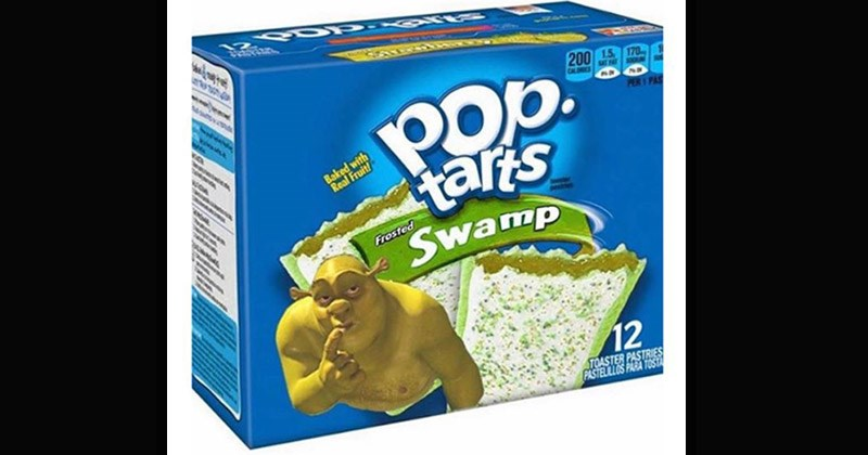 Funny and weird pics of strange Pop Tart flavors | shrek flavored pop tarts Baked with Real Fruit Frosted Swamp 12 TOASTER PASTRIES