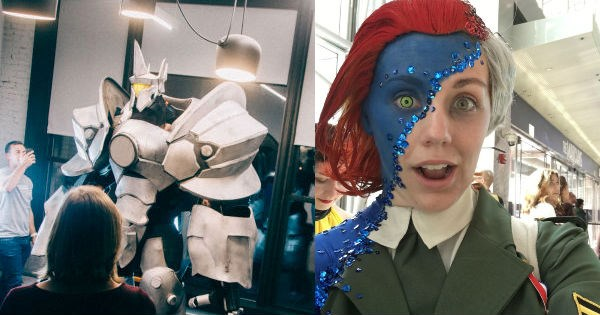 geek cosplay joker mystique x men batman win