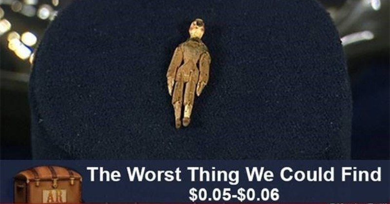 A collection of funny items from the antiques roadshow | weird little puppet Worst Thing Could Find $0.05-$0.06