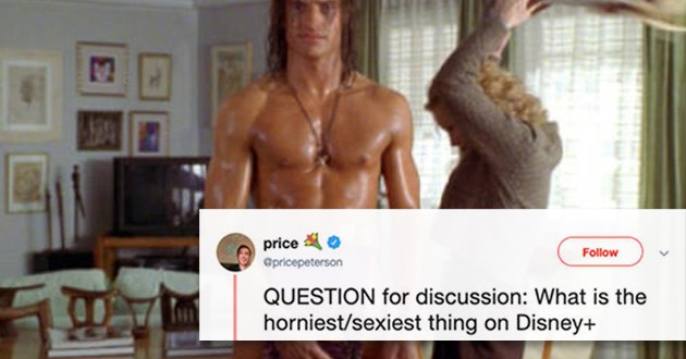 disney disney+ sexy tweets twitter lol funny scenes | QUESTION discussion is horniest/sexiest thing on Disney+ photo from the movie george of the jungle