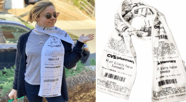 CVS receipt scarves design