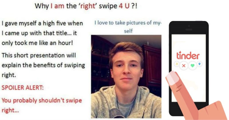 man created powerpoint on his tinder