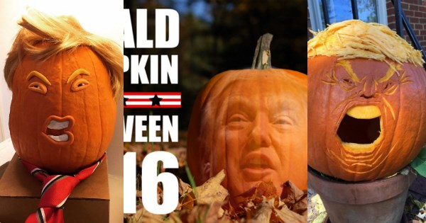 The Favorite Jack-O-Lantern Theme This Year Is, of Course, the Trumpkin