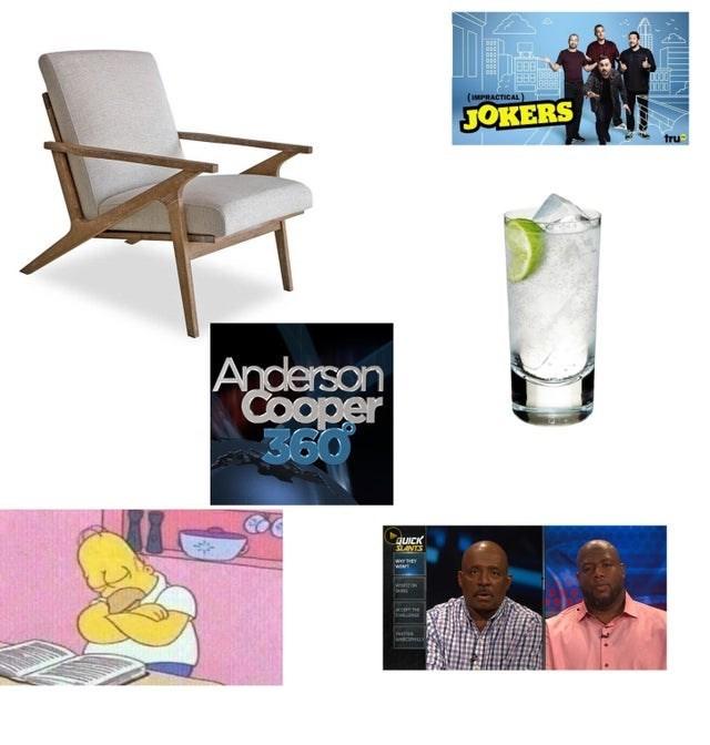 top ten daily starter pack memes | Chair - (IMPRACTICAL JOKERS tru Anderson Cooper 099 QUICK SLANTS