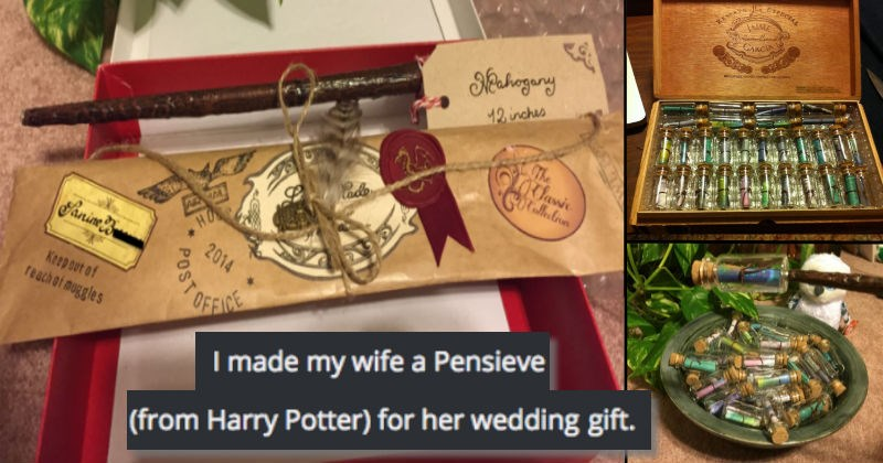 geek Harry Potter list gift cute wedding DIY win dating