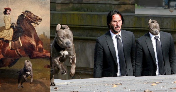 keanu reeves and dog photoshops